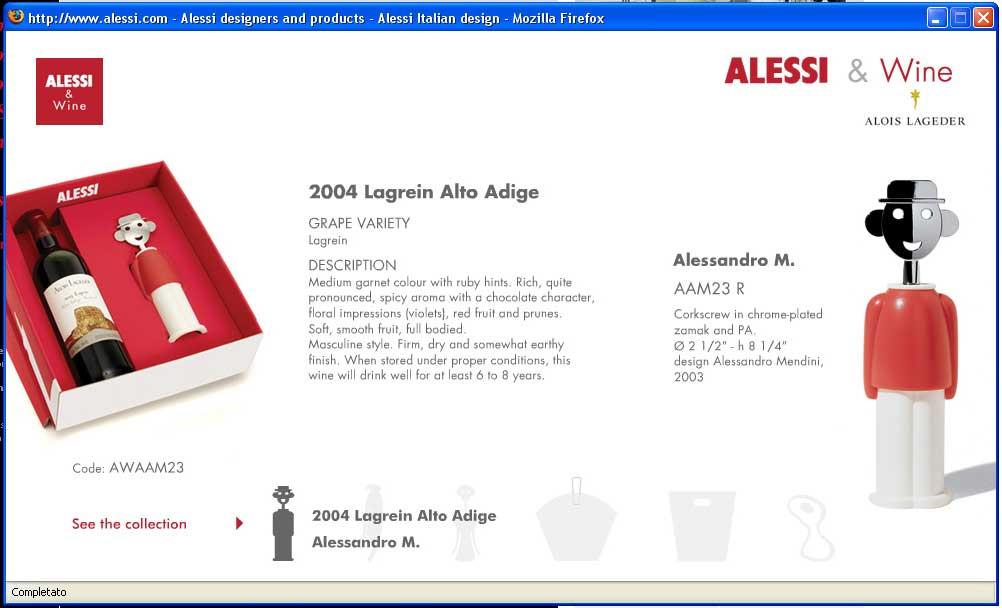Minisito Alessi&Wine (2006)